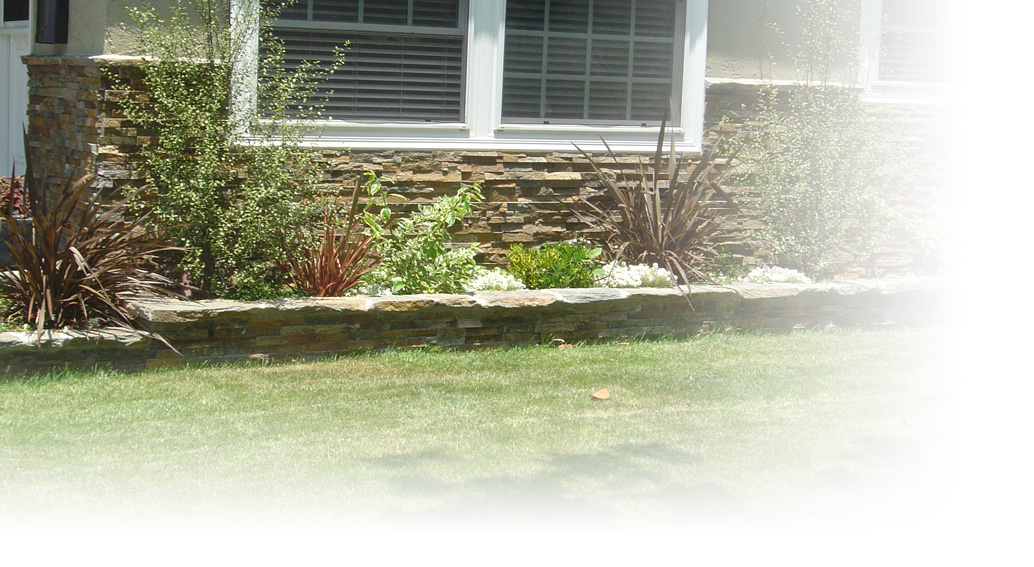 house stone wall