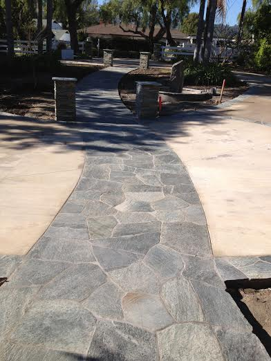 1 Flagstone Walkway Flores masonry